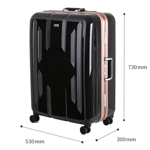スーツケース Lサイズ エース ACE 90L フレームタイプ TSAロック Z.N.Y ゼット・エヌ・ワイ ラウビル 軽量 国内旅行 海外旅行 出張 06382|selection|04