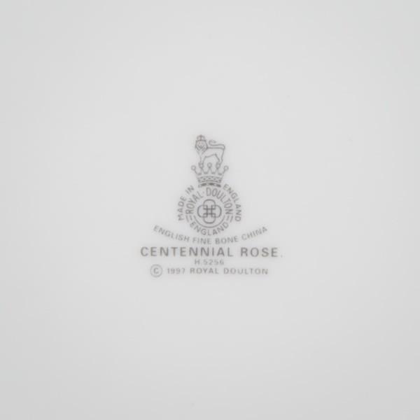 ロイヤル・ドルトン センテニアルローズ ブレッド&バタープレート selectors 06