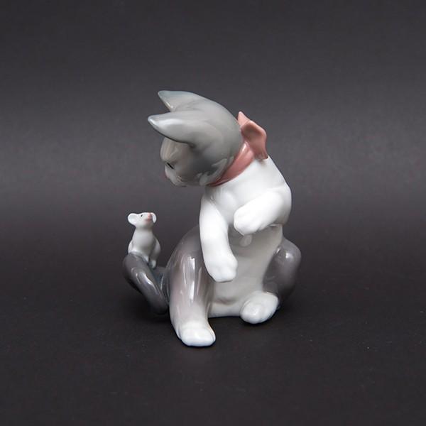 リヤドロ フィギュリン 『Cat and mouse(ネコとネズミ)』 selectors 02
