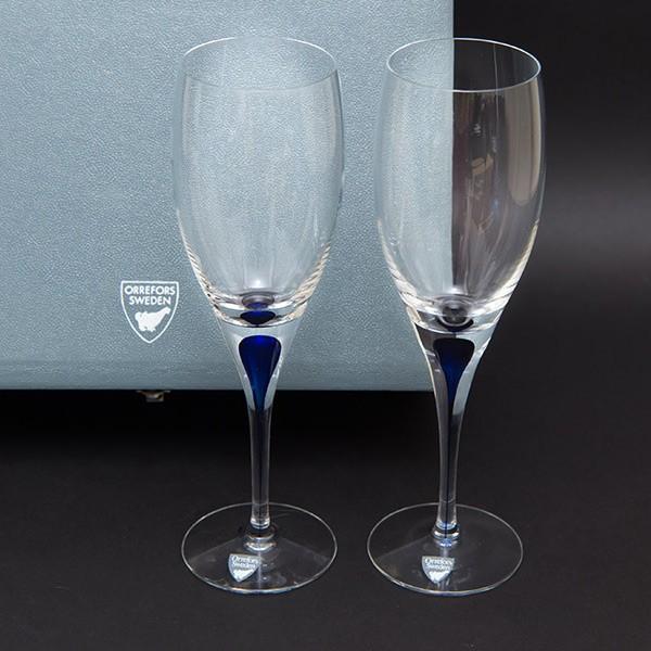 オレフォス インターメッツォ ホワイトワイングラス(ブルー) ペア|selectors