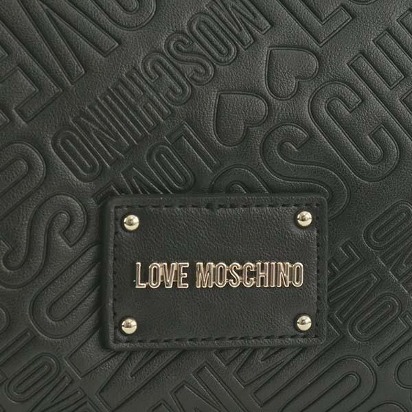ラブモスキーノ  ショルダーバッグ LOVE MOSCHINO JC4031 EMBOSSED LOGO ハンド BK 000