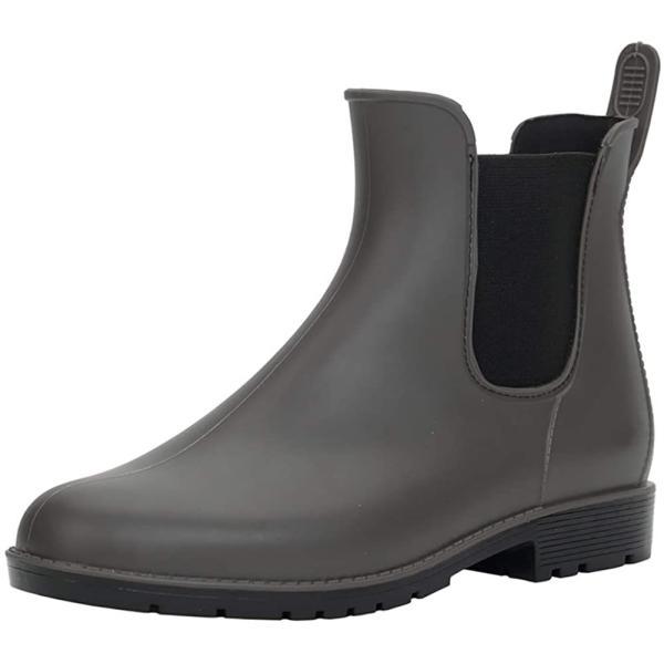 DimaiGlobal レインシューズレディースメンズレインブーツ雨靴サイドゴア晴雨兼用防水ショートブーツ無地台風梅雨対策(2