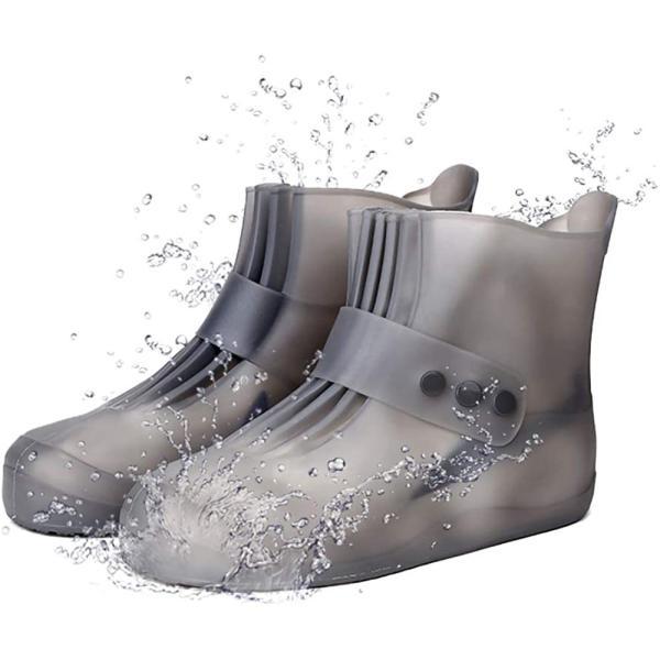 2020最新防水シューズカバーレディース靴カバーメンズレインシューズカバー梅雨対策滑り止めレインシューズ防水シリコンシューズカバ