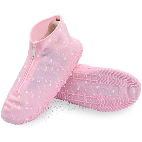 IFEND シューズカバー防水靴カバーレディースメンズキッズ防水レインシューズ梅雨対策滑り止めレインシューズシリコンシュー