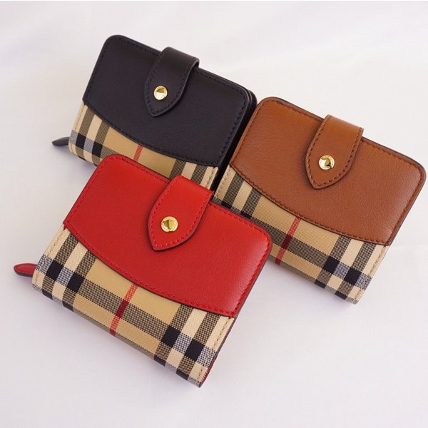 cheap for discount e6a9a 055af BURBERRY バーバリー 財布 二つ折り ミニ財布 コンパクト BLACK RED BROWN ブラック レッド ブラウン