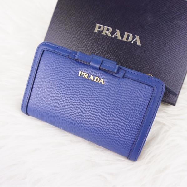 f6adcb196f2c ... プラダ PRADA リボン 二つ折り財布 VITELLO MOVE FI 使いやすい コンパクト財布 折りたたみ ブラック NERO ...