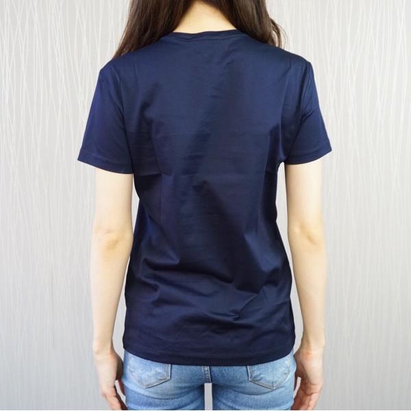 プラダ PRADA Tシャツ クルーネック コットン レディース BLU ブルー 青 BIANCO ホワイト 白 NERO ブラック 黒 トップス|selectshopfelice|09
