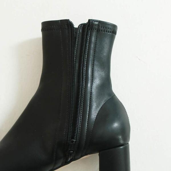 (5月下旬入荷予約)TODAYFUL トゥデイフル Ankle Stretch Boots アンクルストレッチブーツ 11911044/2019春 ブラック ヌードカラー ブーティー