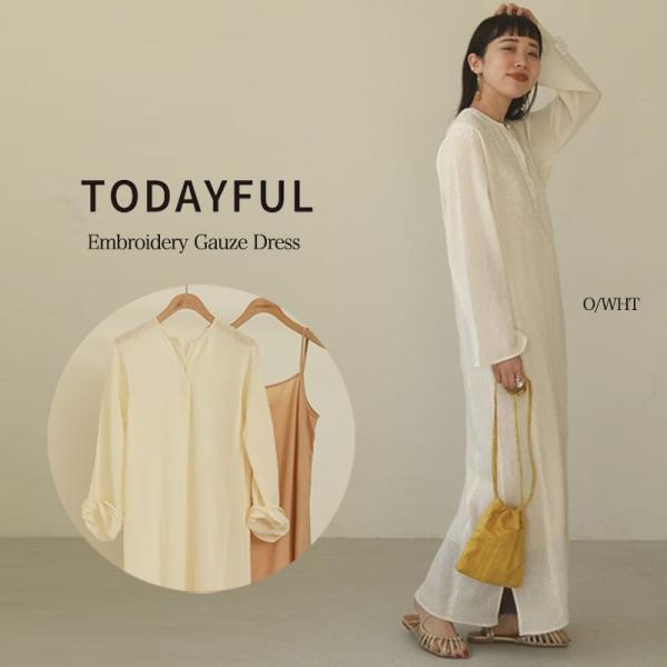 (6月中旬予約)TODAYFUL 20夏.トゥデイフル 通販 Embroidery Gauze Dress エンブロイダリーガーゼドレス 12010322(代金引換不可)