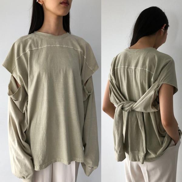 TODAYFUL 20春夏 トゥデイフル Sleeve Slit Long T-Shirts スリーブスリットロングTシャツ 12010614( 3月中旬入荷予約) (代金引換不可)|selectshopmu|02