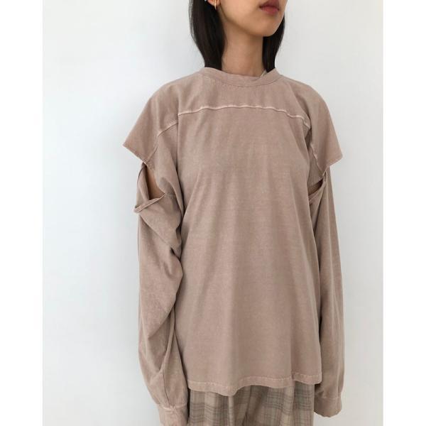 TODAYFUL 20春夏 トゥデイフル Sleeve Slit Long T-Shirts スリーブスリットロングTシャツ 12010614( 3月中旬入荷予約) (代金引換不可)|selectshopmu|03
