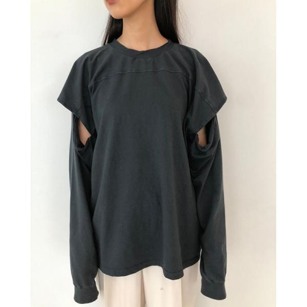 TODAYFUL 20春夏 トゥデイフル Sleeve Slit Long T-Shirts スリーブスリットロングTシャツ 12010614( 3月中旬入荷予約) (代金引換不可)|selectshopmu|04