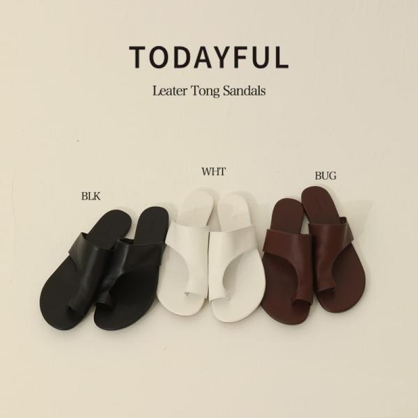 (5月上旬予約)TODAYFUL 20春.トゥデイフル Tong Leater Sandals トングレザーサンダル 12011047 レディース カジュアル 靴 シューズ