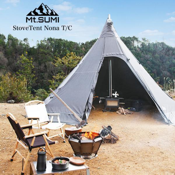Mt.SUMI マウントスミ StoveTent Nona T/C / ストーブテント ノナ T/C 最大8人収容 ワンポールテント 冬キャンプ 薪ストーブテント ティピーテント