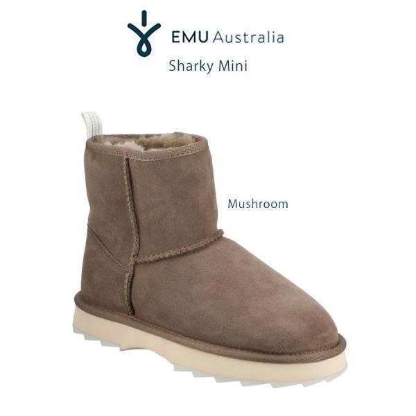 EMU エミュー Australia 通販 Sharky Mini シャーキーミニ 厚底ムートンブーツ w12434 撥水加工 厚底シャークソール 23cm 24cm 25cm (日本正規販売店)