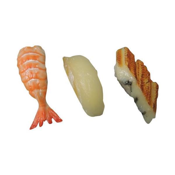 日本職人が作る  食品サンプル寿司マグネット えび ひらめ あなご IP-153