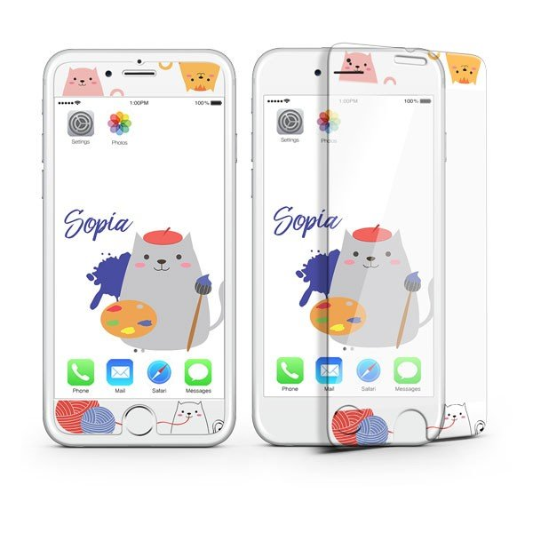 iPhone8 iPhone7 iPhone6s/6 iPhone7Plus iPhone6s Plus/6 Plus フィルム 待ち受け画面一体ポイントカラー3D保護ガラスフィルム 10H|selectshopsig|05
