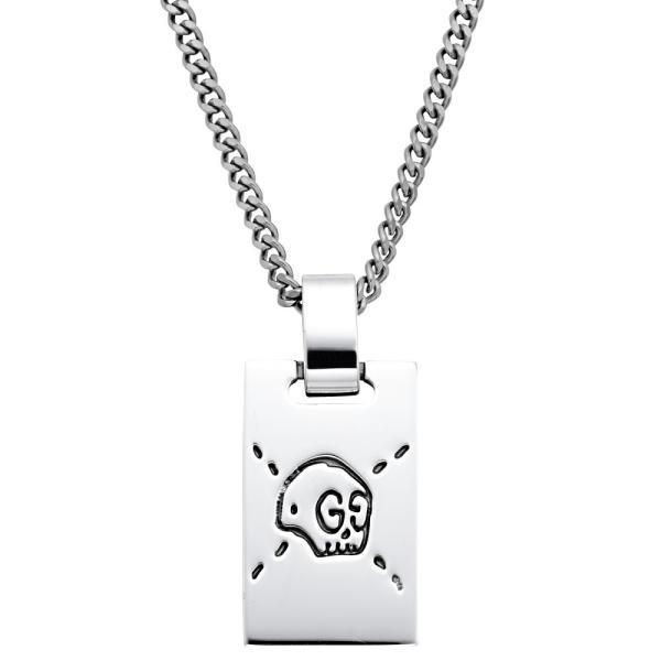 グッチ GUCCI 455315-J8400-0701 GOST グッチゴースト ペンダント ネックレス アクセサリー