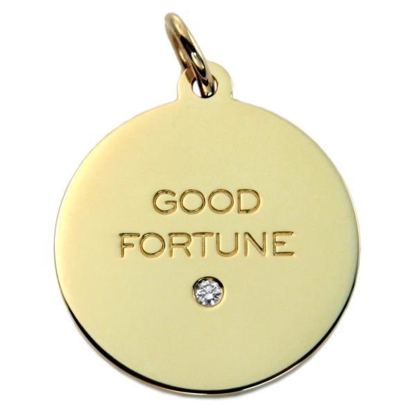 ティファニー TIFFANY&CO 60880875 「Good Fortune」 タグ チャーム ミディアム 18KYG×ダイアモンド  (ペンダントトップ) アクセサリー