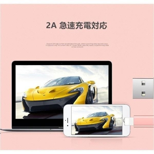 充電ケーブル iPhone Lightning ケーブル 1m 2A 高品質 断線しにくい 急速充電 USBケーブル 充電器 USB充電 iphone iPad モバイルバッテリー|selectshoptoitoitoi|07