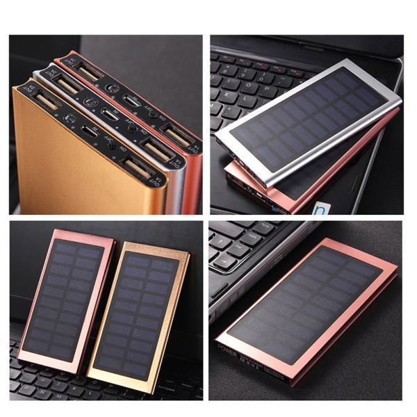 モバイルバッテリー 軽量 薄型 ソーラーモバイルバッテリー 大容量 10000mAh 防災グッズ ソーラー チャージャー スマホ 充電器 USB充電器 iPhone Android|selectshoptoitoitoi|10