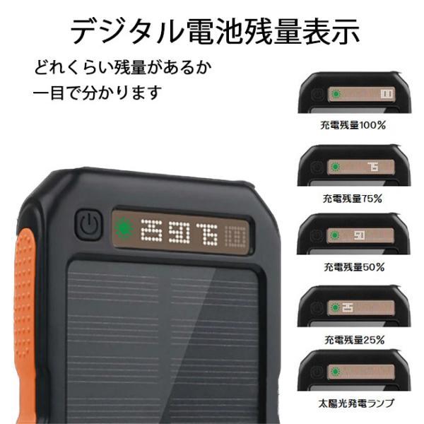 モバイルバッテリー ソーラーモバイルバッテリー 12000mAh 大容量 スマホ充電器 2台同時充電 急速充電 ソーラー 充電器 iPhone android|selectshoptoitoitoi|04
