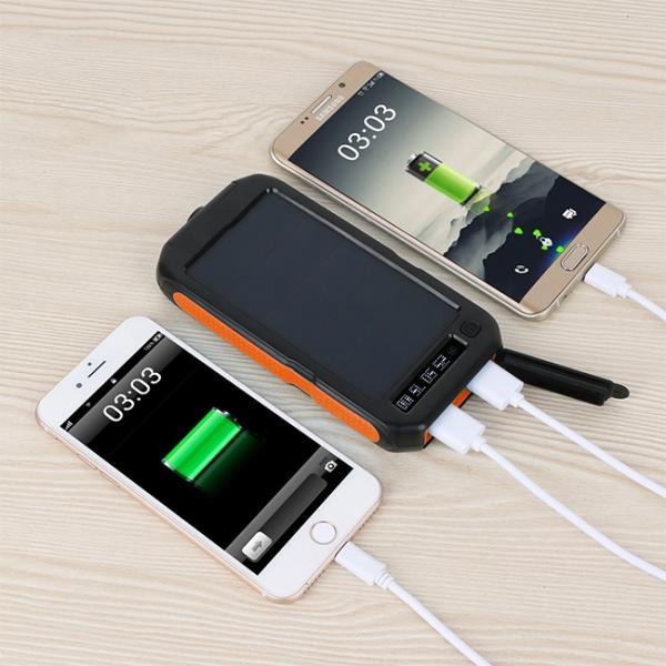 モバイルバッテリー ソーラーモバイルバッテリー 12000mAh 大容量 スマホ充電器 2台同時充電 急速充電 ソーラー 充電器 iPhone android|selectshoptoitoitoi|05