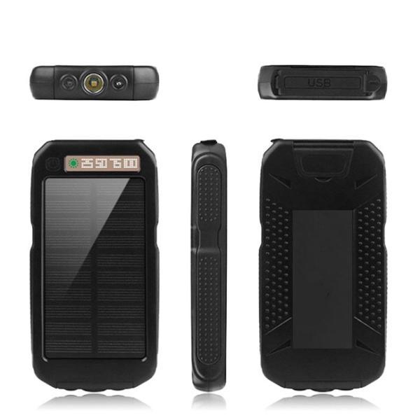 モバイルバッテリー ソーラーモバイルバッテリー 12000mAh 大容量 スマホ充電器 2台同時充電 急速充電 ソーラー 充電器 iPhone android|selectshoptoitoitoi|06
