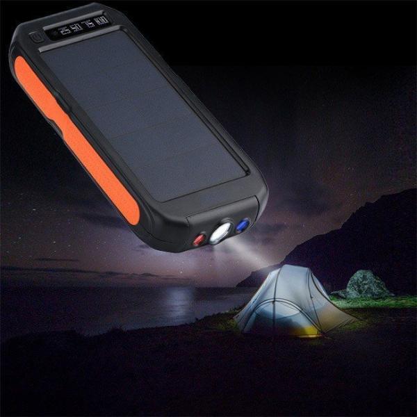 モバイルバッテリー ソーラーモバイルバッテリー 12000mAh 大容量 スマホ充電器 2台同時充電 急速充電 ソーラー 充電器 iPhone android|selectshoptoitoitoi|08