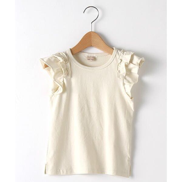 petit main / プティマイン バリュー袖フリルTシャツ|selectsquare