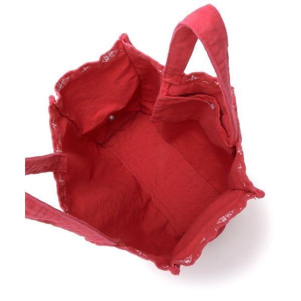 Daily russet / デイリーラシット 製品染めモノグラムフォールディングトートバッグ
