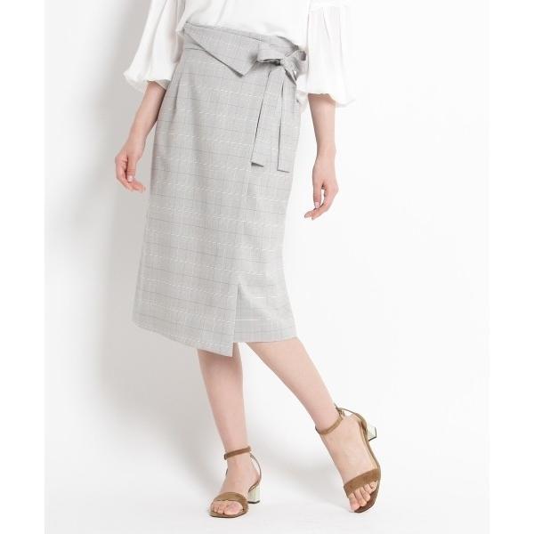 SunaUna / スーナウーナ 【洗える】マイクロチェックタイトスカート|selectsquare