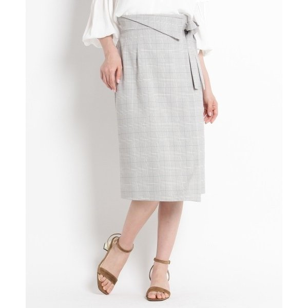 SunaUna / スーナウーナ 【洗える】マイクロチェックタイトスカート|selectsquare|02