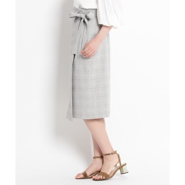 SunaUna / スーナウーナ 【洗える】マイクロチェックタイトスカート|selectsquare|03