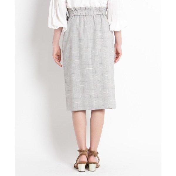 SunaUna / スーナウーナ 【洗える】マイクロチェックタイトスカート|selectsquare|04