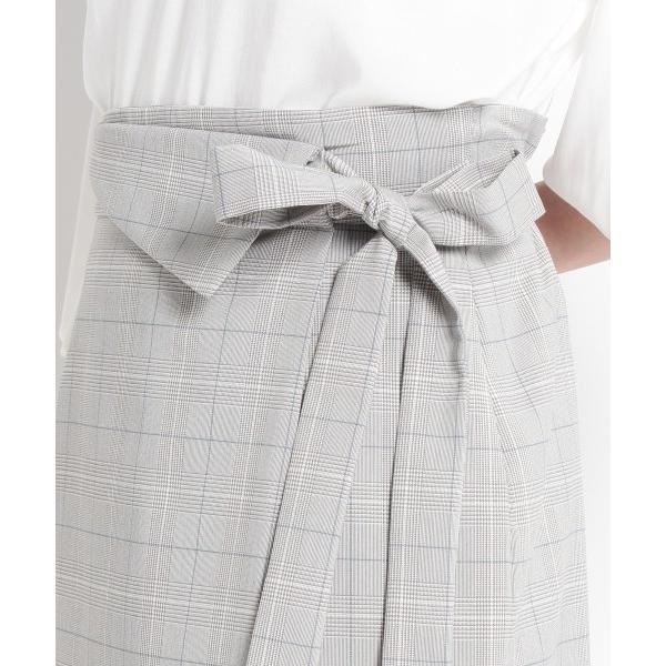 SunaUna / スーナウーナ 【洗える】マイクロチェックタイトスカート|selectsquare|05