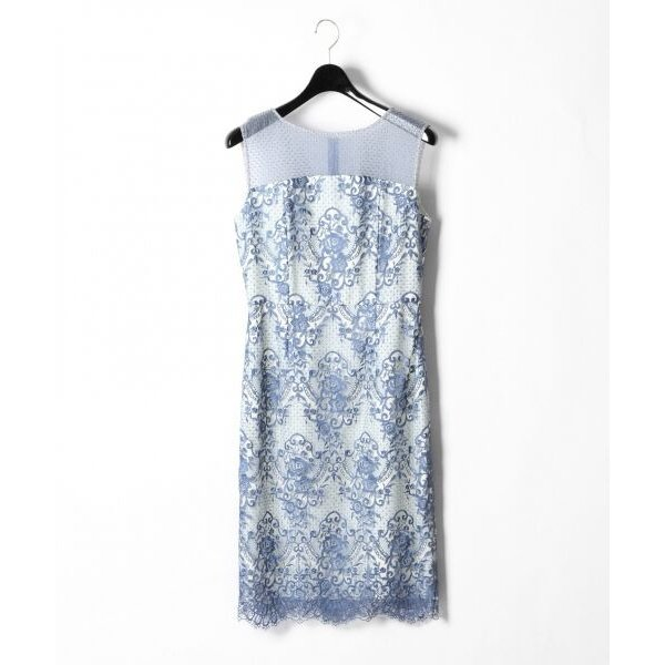 GRACE CONTINENTAL / グレースコンチネンタル チュールレース刺繍タイトワンピース|selectsquare