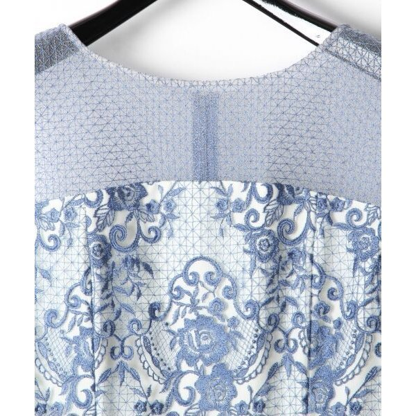 GRACE CONTINENTAL / グレースコンチネンタル チュールレース刺繍タイトワンピース|selectsquare|02
