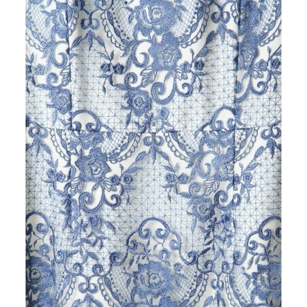 GRACE CONTINENTAL / グレースコンチネンタル チュールレース刺繍タイトワンピース|selectsquare|04