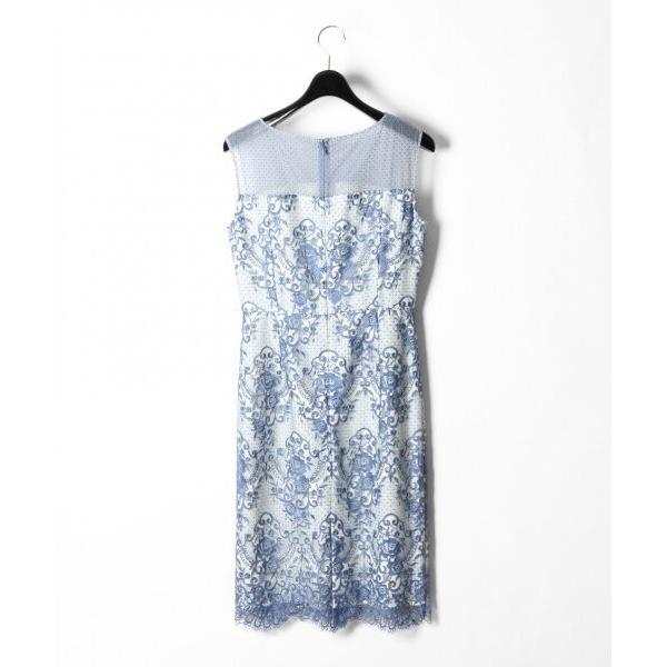 GRACE CONTINENTAL / グレースコンチネンタル チュールレース刺繍タイトワンピース|selectsquare|06