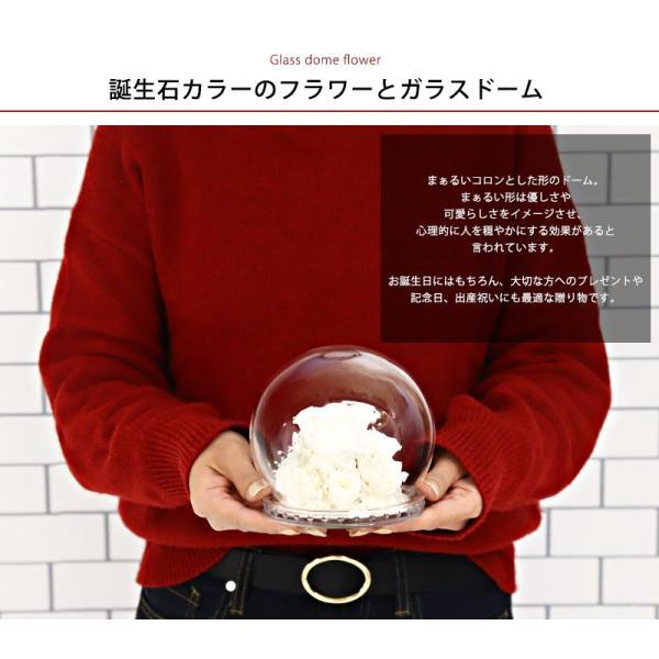 あすつく 新品 プリザーブドフラワー ドーム 御誕生日ガラスドーム ローズ バラ プリザーブド アレンジ 花|selene|02