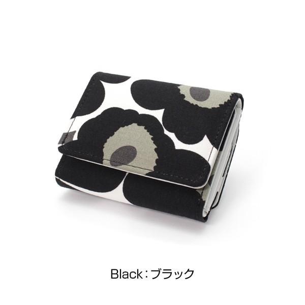 ミニ財布 本革 レザー 財布 手のひら 小さい コンパクト 三つ折り 折りたたみ 小銭入れ カード ギフト 可愛い かわいい 旅行用 マリメッコの生地使用|selene|17