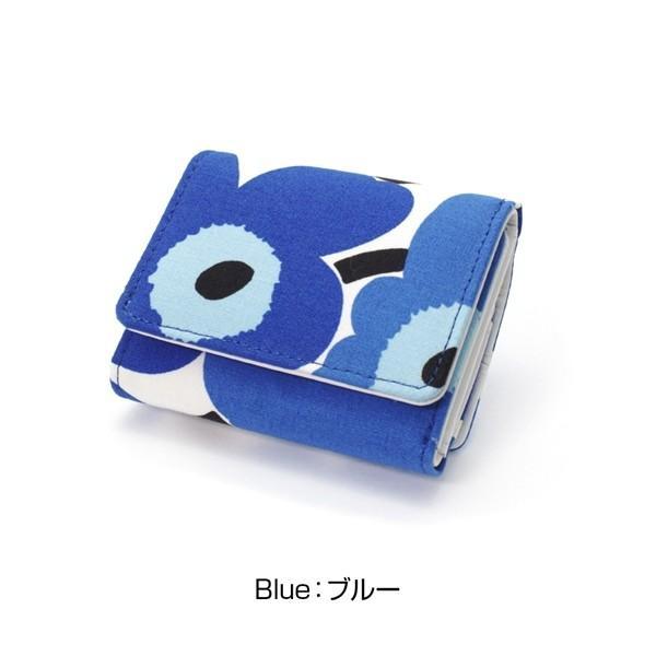 ミニ財布 本革 レザー 財布 手のひら 小さい コンパクト 三つ折り 折りたたみ 小銭入れ カード ギフト 可愛い かわいい 旅行用 マリメッコの生地使用|selene|19
