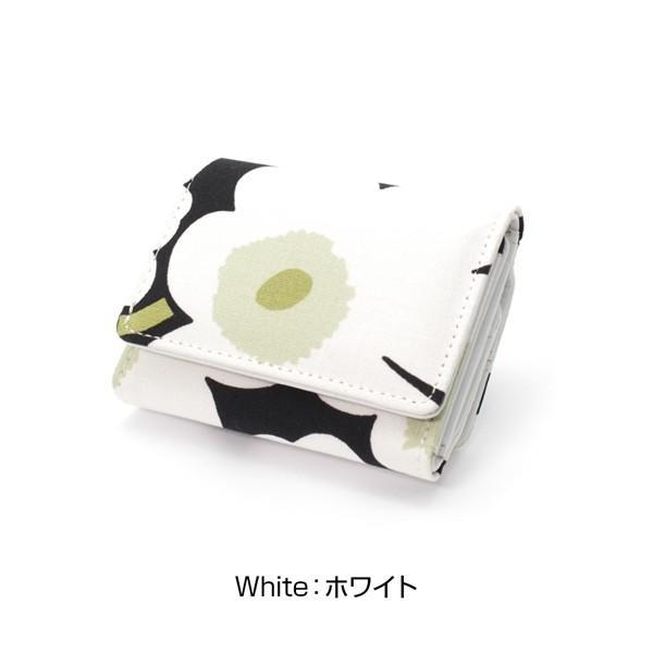 ミニ財布 本革 レザー 財布 手のひら 小さい コンパクト 三つ折り 折りたたみ 小銭入れ カード ギフト 可愛い かわいい 旅行用 マリメッコの生地使用|selene|20