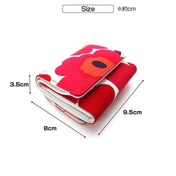 ミニ財布 本革 レザー 財布 手のひら 小さい コンパクト 三つ折り 折りたたみ 小銭入れ カード ギフト 可愛い かわいい 旅行用 マリメッコの生地使用|selene|04