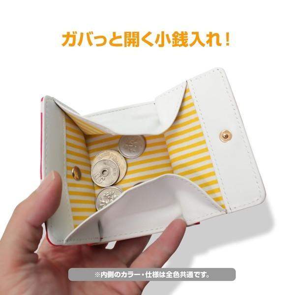 ミニ財布 本革 レザー 財布 手のひら 小さい コンパクト 三つ折り 折りたたみ 小銭入れ カード ギフト 可愛い かわいい 旅行用 マリメッコの生地使用|selene|07