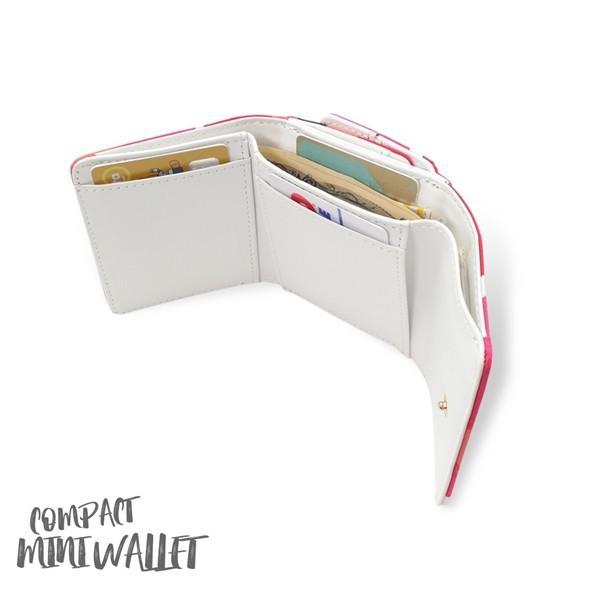 ミニ財布 本革 レザー 財布 手のひら 小さい コンパクト 三つ折り 折りたたみ 小銭入れ カード ギフト 可愛い かわいい 旅行用 マリメッコの生地使用|selene|09