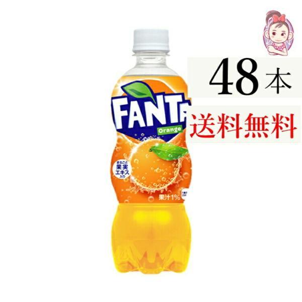 ファンタオレンジPET500ml24本×2ケース計:48本