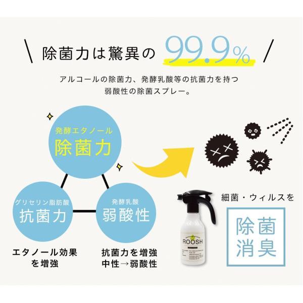 【あすつく】強力ウイルス除菌99.9% 消臭 日本製 お子さんやペットに優しい 空間 除菌スプレー ROOSH 300ml|selfcoating|15