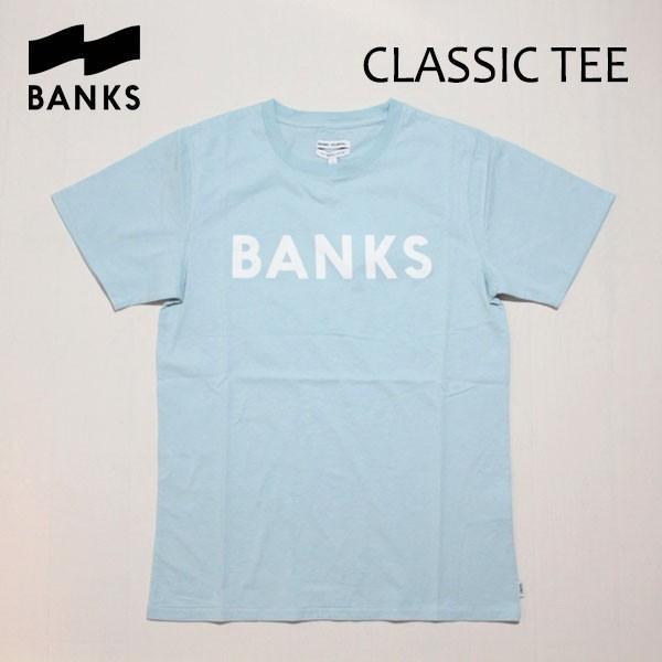 BANKS,バンクス/18SU/ S/S Tシャツ・半袖Tシャツ/CLASSIC TEE-SHIRT・ATS0261/CLOUD BLUE・ライトブルー/S・Mサイズ/メンズ/オーガニックコットン/ロゴTEE|selfishsurf